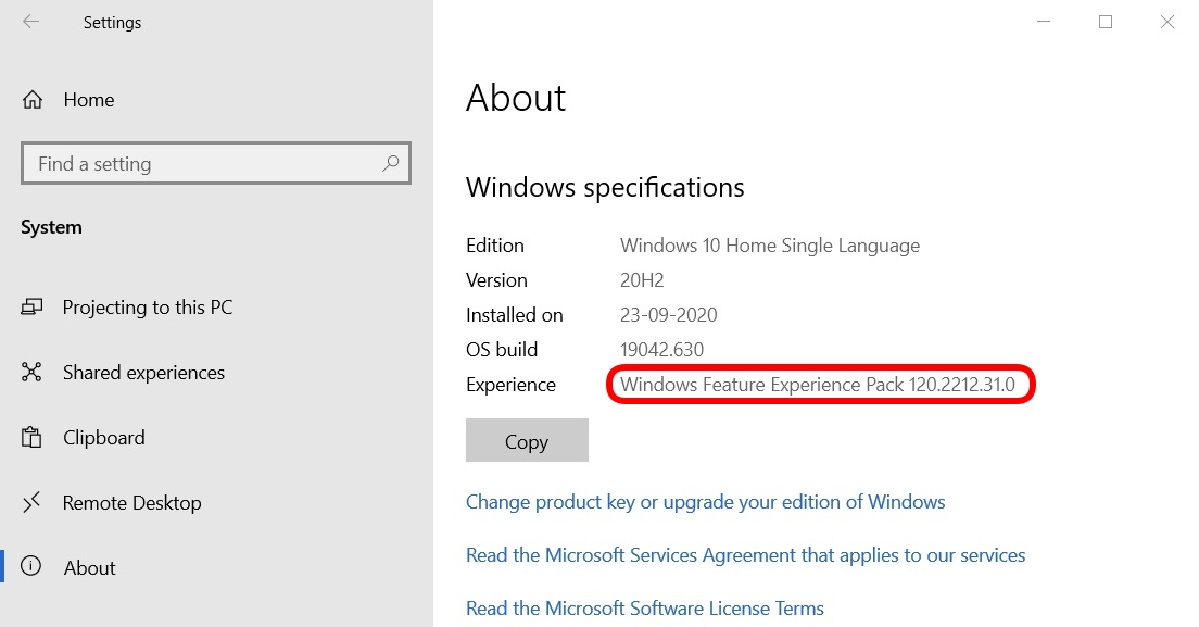 Experience Pack - Windows 10 Feature Experience Pack new way to update