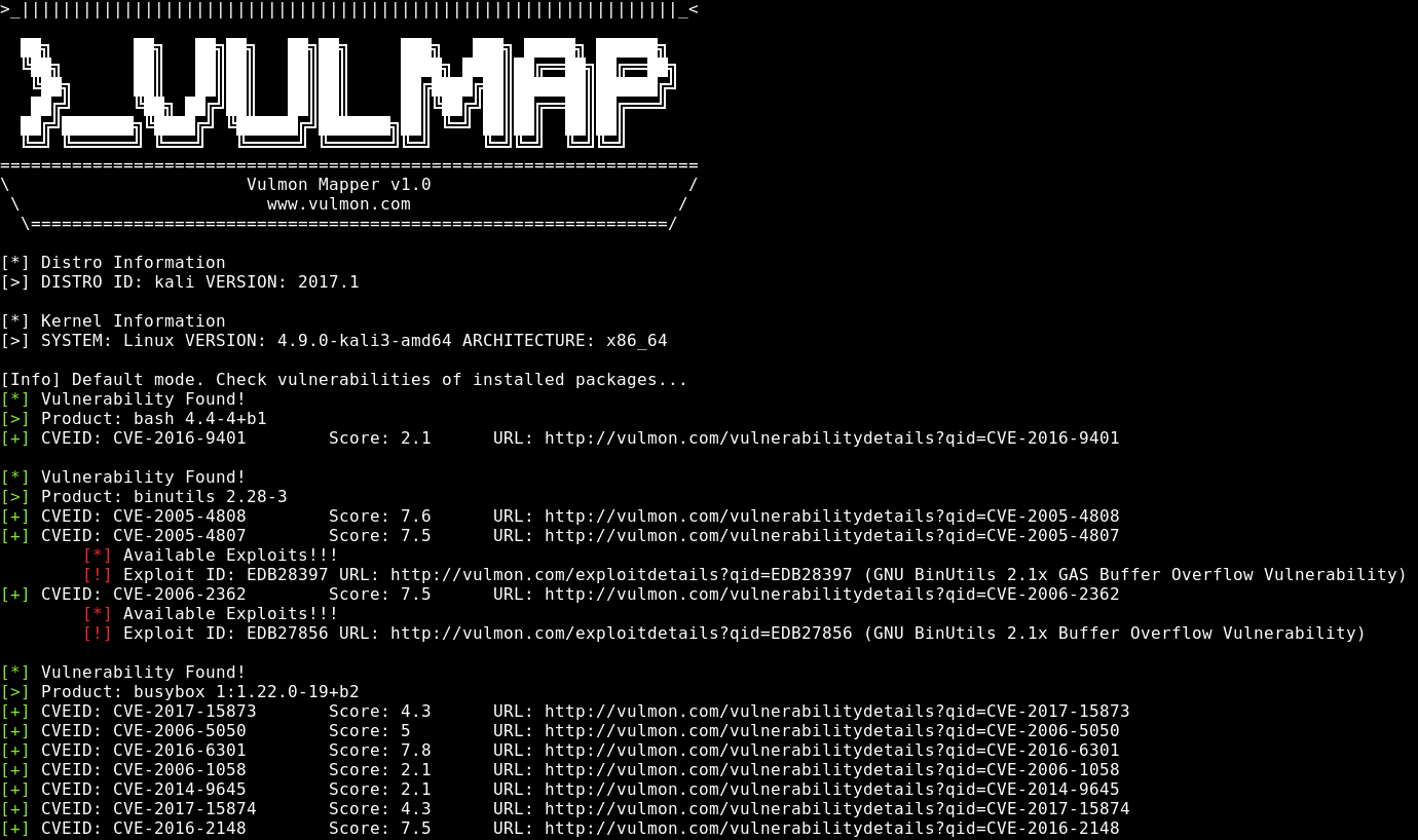 Vulmap - Vulmap σάρωση για Web ευπάθειες