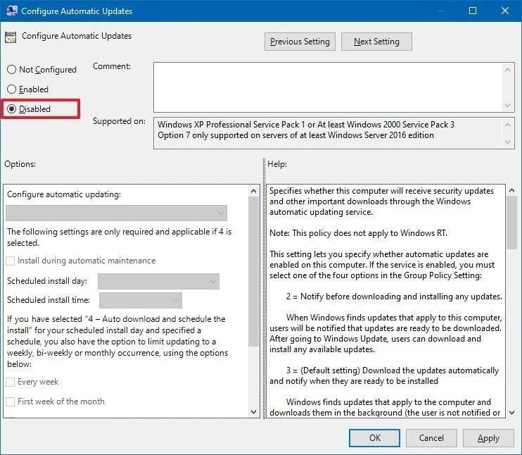 automatic updates gpedit 2020 - Windows 10 απενεργοποιήστε τις αυτόματες ενημερώσεις