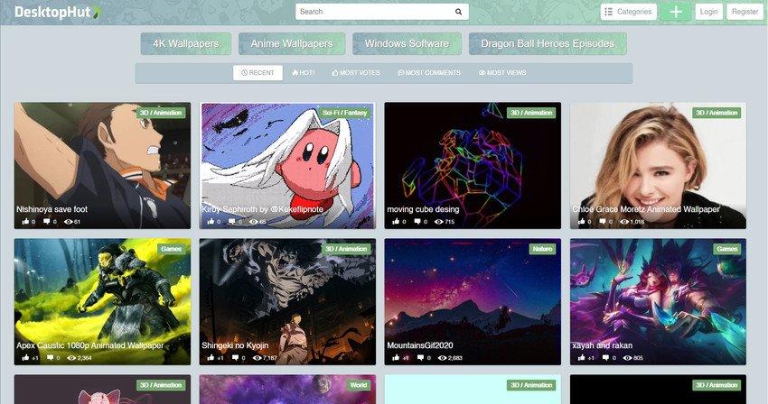 desktophut - Five free software to set a video as wallpaper in Windows 10