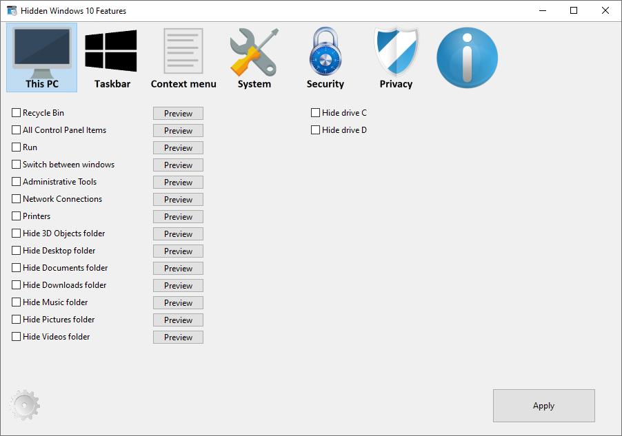 hidden windows 10 features thispc - Hidden Windows 10 Features 1.1.0