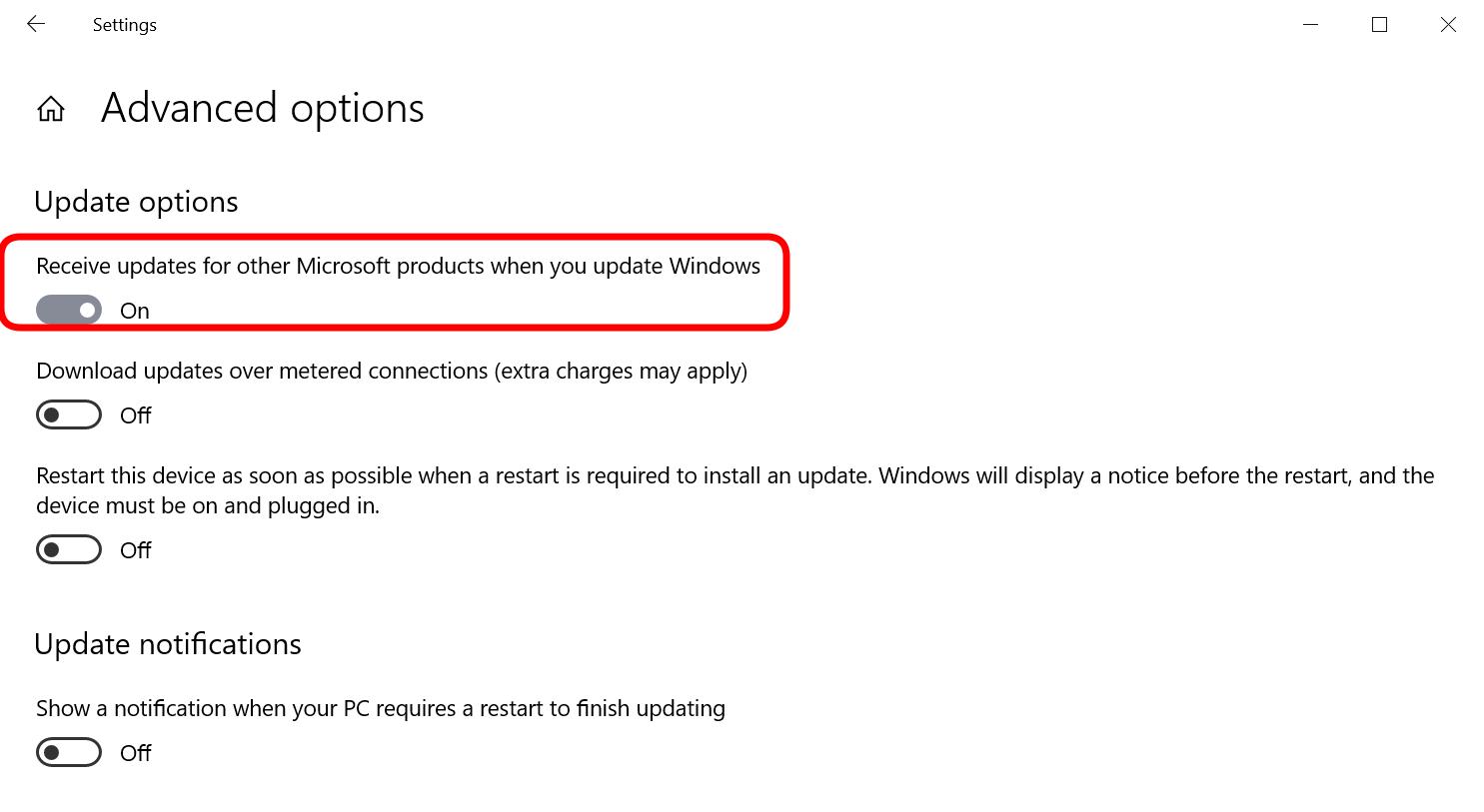 microsoft updates - .NET Core updates via Windows Update