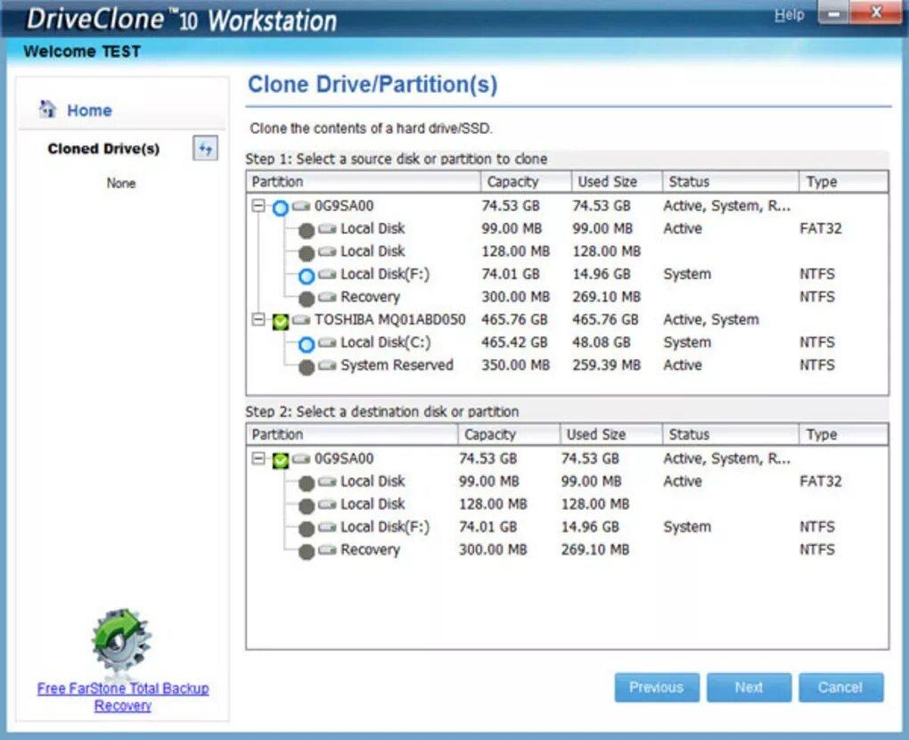3176379193 - DriveClone 11 κλωνοποίηση δίσκου με 3 click