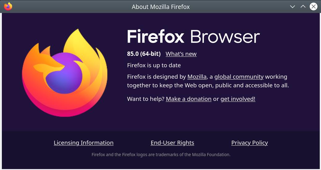 Screenshot 2021 01 25 18 29 25 - Firefox 85.0 download before official release