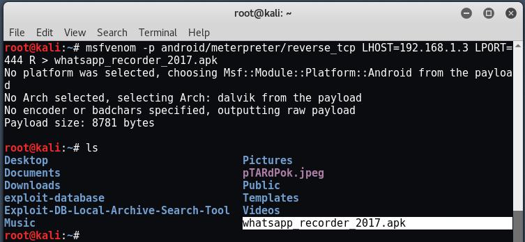 android3 - Hack σε Android με το Metasploit μέσω LAN/WAN