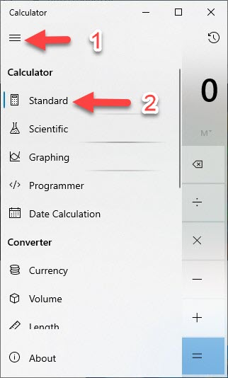 calculator 1 - How to keep the Calculator always on top in Windows 10