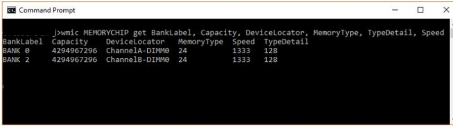 check theRAM - Windows 10 Πώς να βρείτε τον τύπο μνήμης DDR