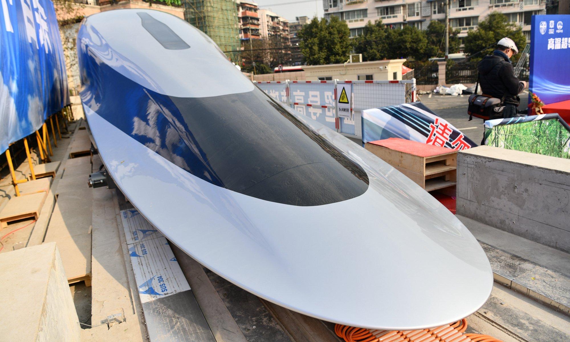 maglev - Magnetic train (maglev) travels at 620 km / h