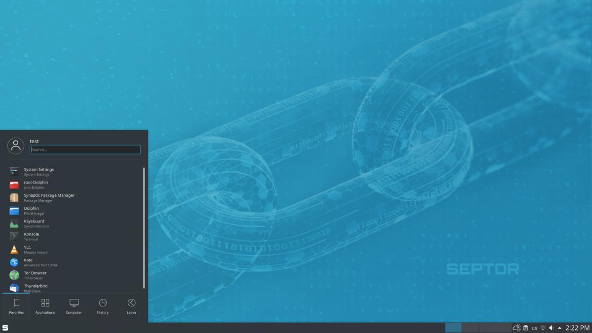 septor - Septor Linux 2021.1 ανωνυμία για όλους