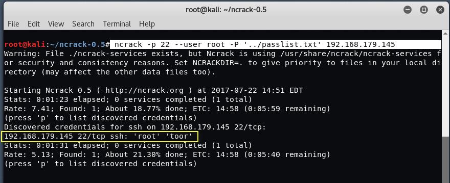 ssh12 ncrack4 - Bruteforce SSH με Hydra, Ncrack και Medusa
