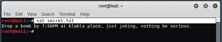 steg3 - The method of Sealing in Kali Linux