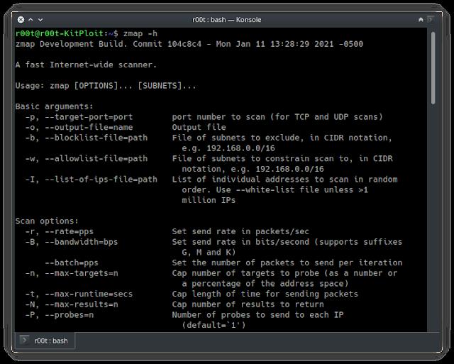 zmap - Zmap: Απλός και γρήγορος Network Scanner
