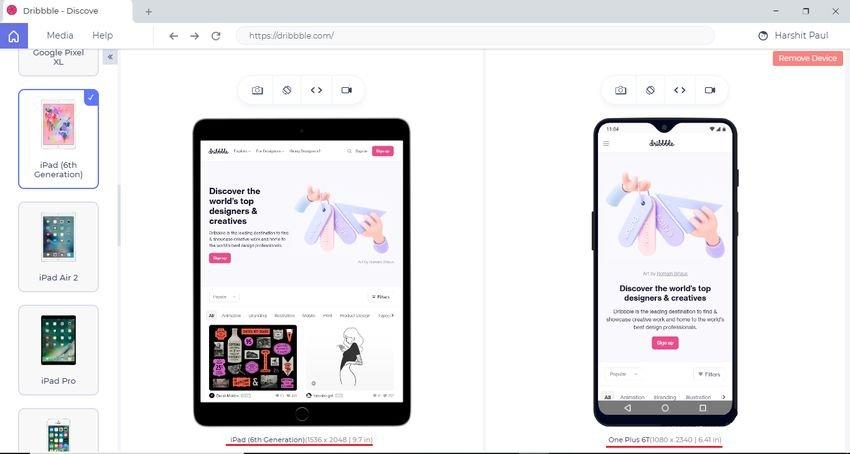 LT browser - Browser για δοκιμή ιστοτόπων