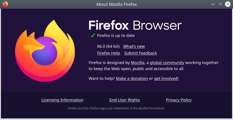 Screenshot 2021 02 23 18 52 30 - Firefox 86.0 download before official release