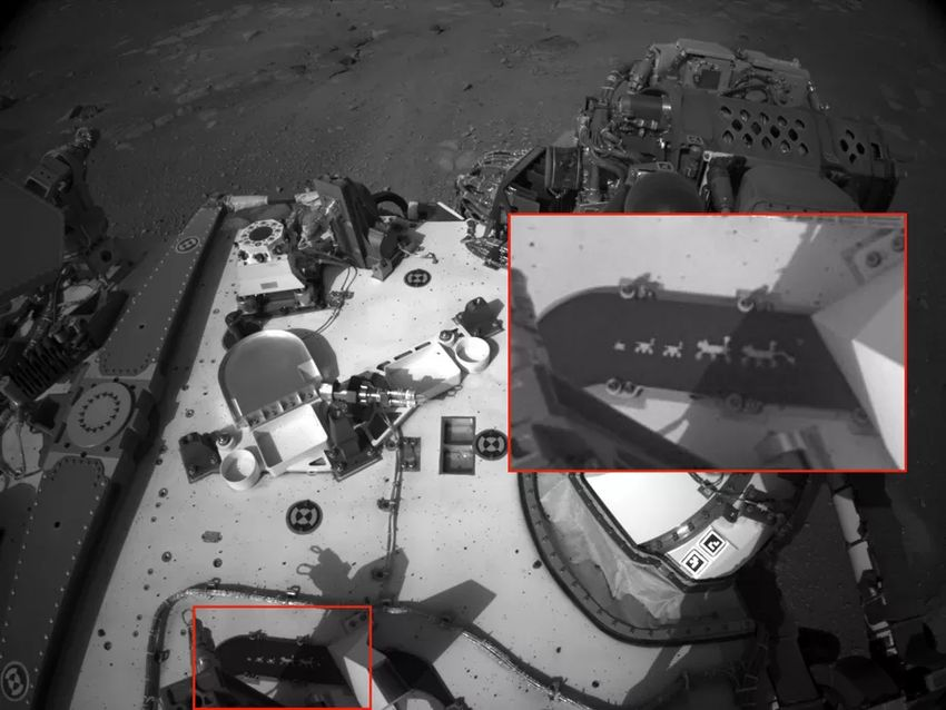 Untitled 6 00001 - Hidden message on the parachute of the new NASA rover