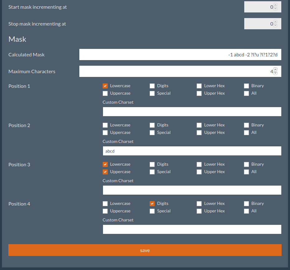 cj mask - CrackerJack: Web GUI for Hashcat in Python