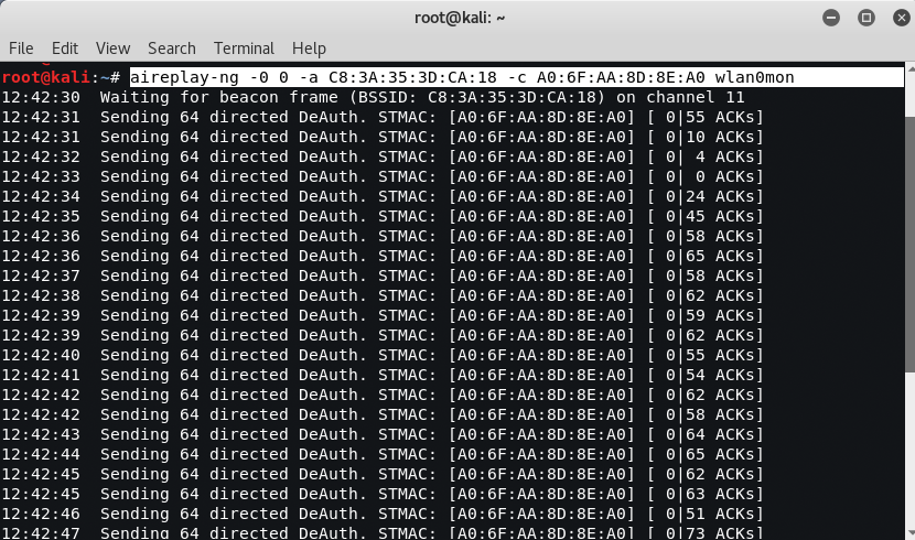 ddos wifi - Wi-Fi deauthentication attack on 802.11 protocol