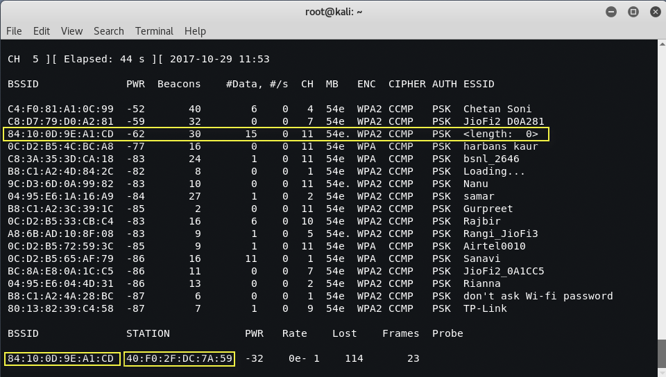 hiddenwifi3 - Bypass hidden SSID in wireless network