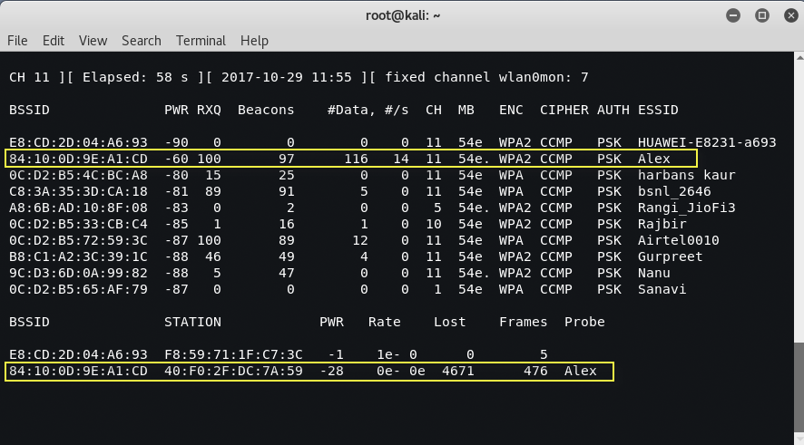 hiddenwifi5 - Bypass hidden SSID in wireless network