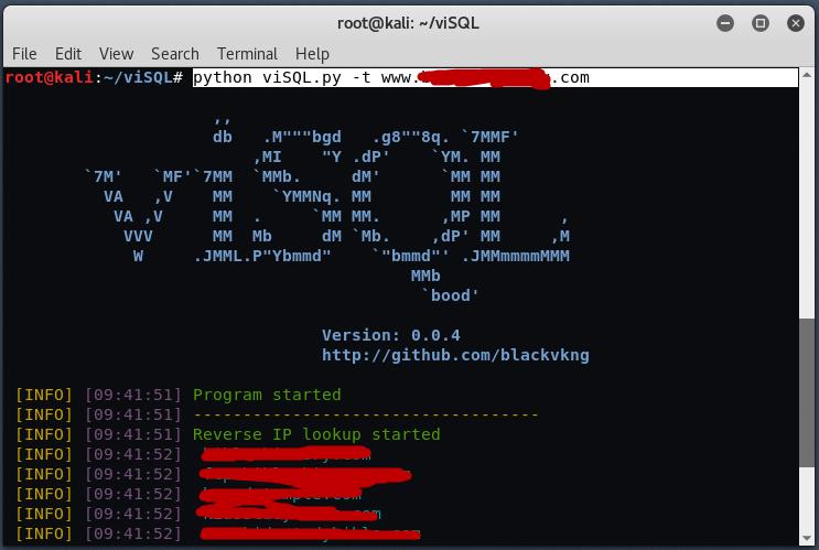 visql4 - Ανακάλυψε SQL Injection σε έναν Web Server
