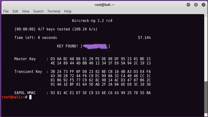 wpa2 cracking8 - WPA2-PSK network break with Aircrack and Dictionary
