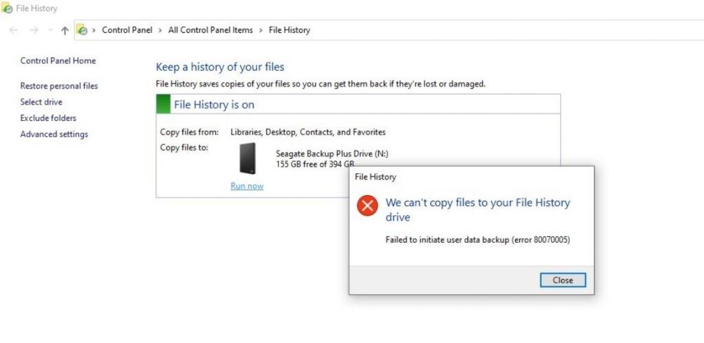 File History tool 1024x499 - KB4601319 πάμε πάλι Προβλήματα με File History και webcam