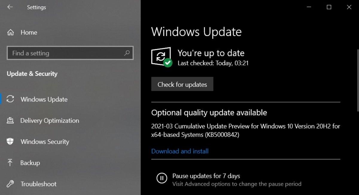 KB4601382 - Windows 10 KB5000842 ο Θεός μαζί σας