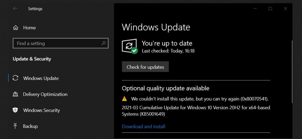 Screenshot 1024x471 - Windows 10 KB5001649 και πάλι σαλάτα