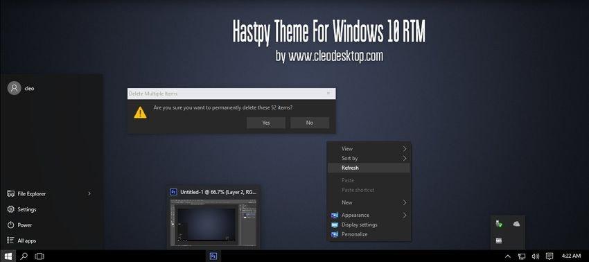 hastpy theme windows 10