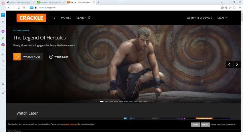 crackle - 12 βίντεο ιστότοποι, εναλλακτικοί του YouTube