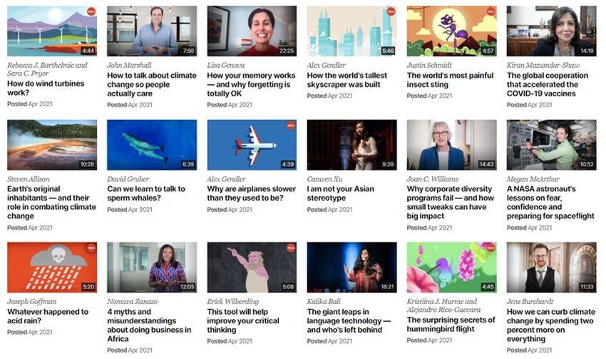 ted talks - 12 βίντεο ιστότοποι, εναλλακτικοί του YouTube